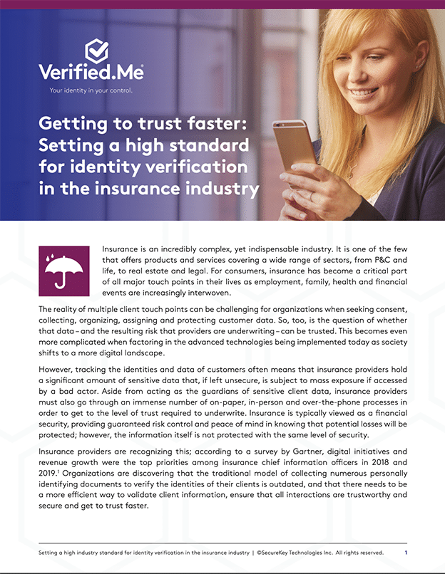 Setting a high standard for identity verification in the insurance industry